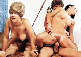 VINTAGE PORN #rec FOURSOME COWGIRLS HARDCORE G1 #19980032