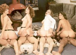 VINTAGE PORN #rec FOURSOME COWGIRLS HARDCORE G1 #19980208