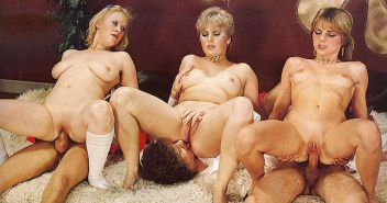 VINTAGE PORN #rec FOURSOME COWGIRLS HARDCORE G1 #19980247