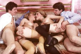 VINTAGE PORN #rec FOURSOME COWGIRLS HARDCORE G1 #19980370