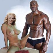 Marilyn Monroe interracial.