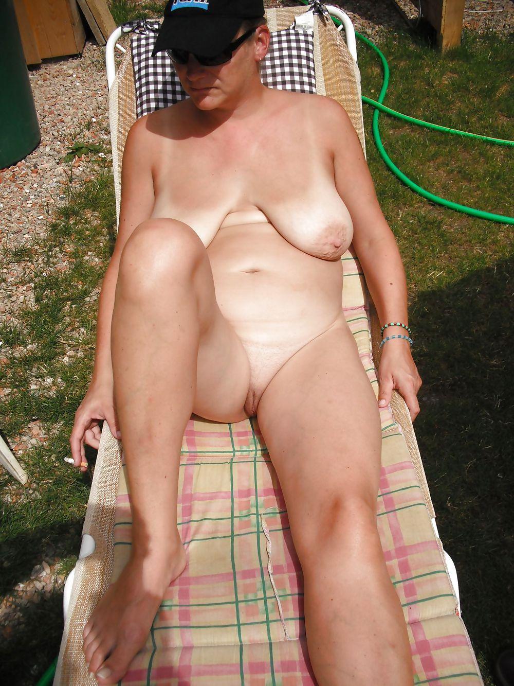 Mature,granny nudist #20585533