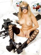 Horny mature with mask