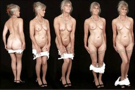 Grannies, MILFs displayed naked