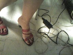 French Mature Evelyne's Feet 2
