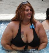 Bbw in public in bikinis or non fitting clothes