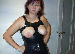 Exposed tits and pussy