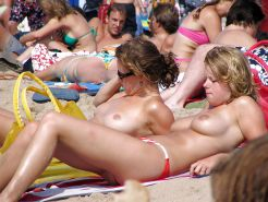 Girls at beach
