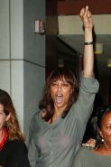 Tyra Banks attends her high school reunion Cheesecake Fac