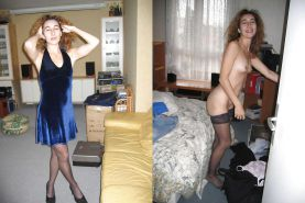 Dressed and undressed wives milf housewives #5166672