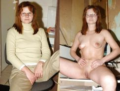 Dressed and undressed wives milf housewives  #5166701