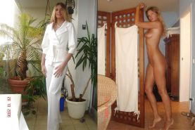 Dressed and undressed wives milf housewives  #5167189