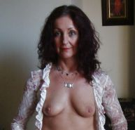 Little Mature Lady Shows Off Her Hairy Pussy