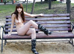 Amateur nude at military park