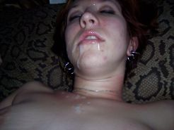 RedHead Teen- Spit and Cum Play -Blowjob