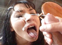 Sexy babes covered of cum #13107967