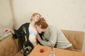 Matures loves to give breast to young  guys X