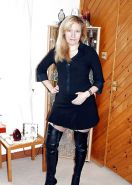 Sexy dominant british milf leather thigh boots