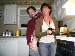 Giving mom a quickie