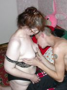 Matures loves to give breast to young guys II