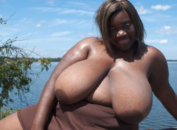 Big black areolas ----massive collection---- part 7