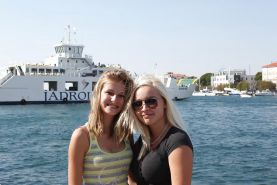 2 Blonde Teens On Vacation