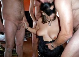 French Amateur MILF #rec Group Sex in front Husband PART 2 #5775526