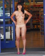 Horny Monica Nude and Naked in Public
