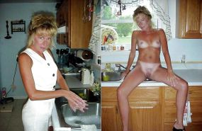 Dressed and undressed wives milf housewives Porn Pics #5214337