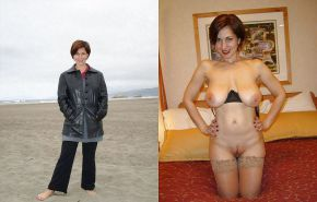 Dressed and undressed wives milf housewives Porn Pics #5214425