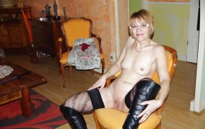 Mature and milf in stocking and boots #16853742