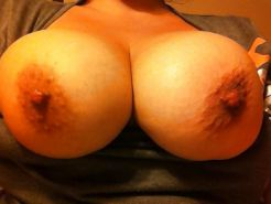 My Wifes big natural boobs