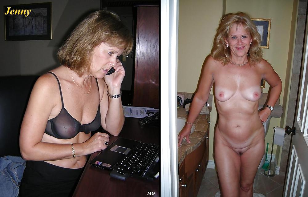 Dressed and undressed mature milf Porn Pics #7305270