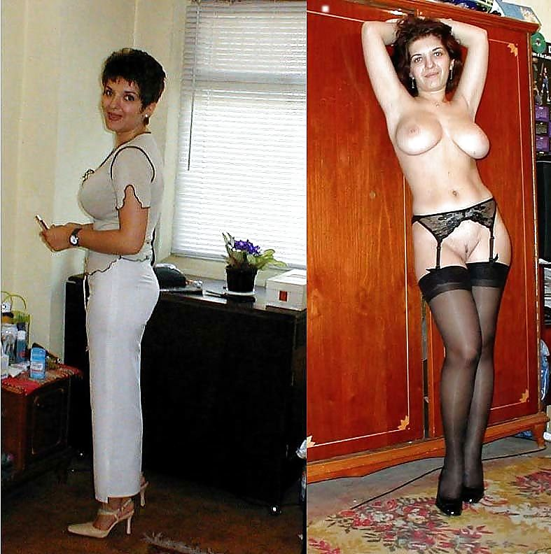 Dressed and undressed mature milf Porn Pics #7305316