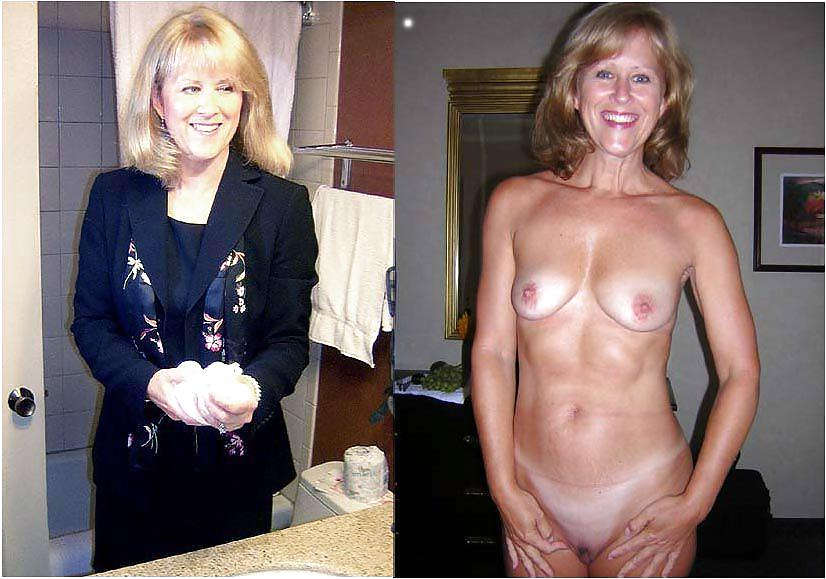 Dressed and undressed mature milf Porn Pics #7305409