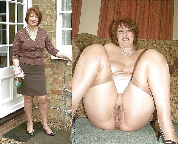 Dressed and undressed mature milf Porn Pics #7305494