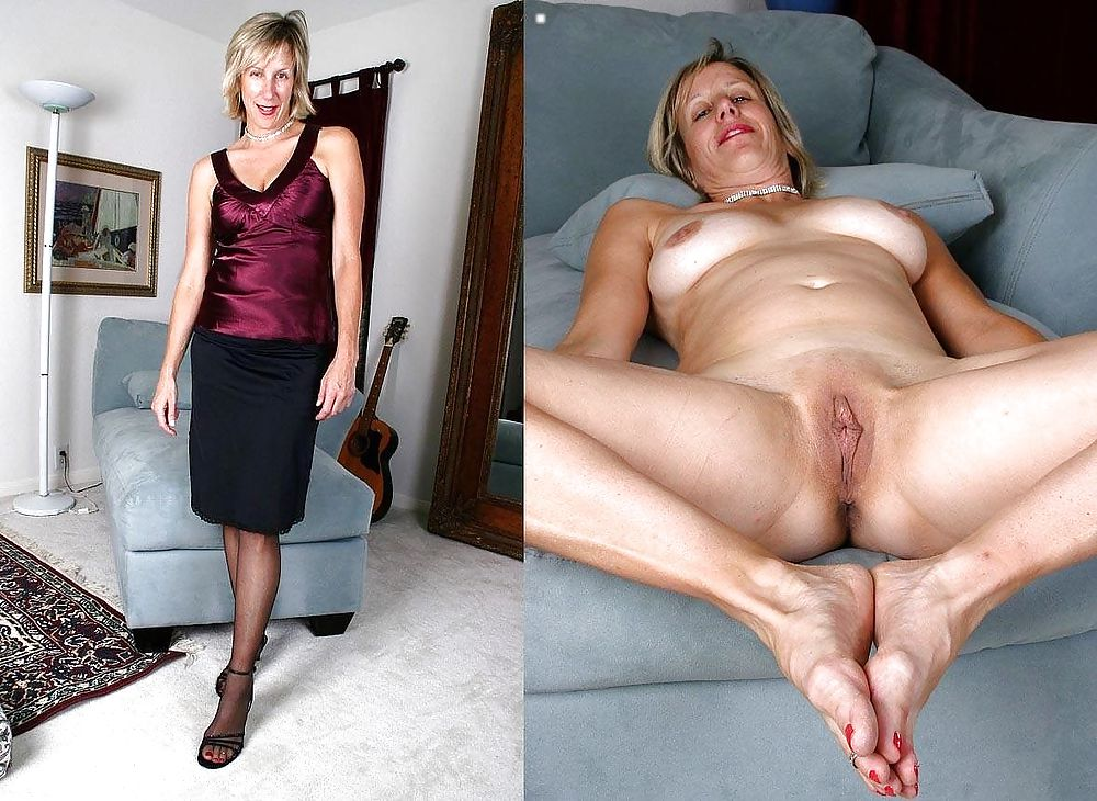 Dressed and undressed mature milf Porn Pics #7305650