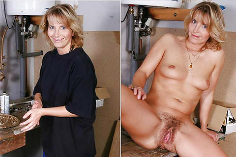 Dressed and undressed mature milf Porn Pics #7305890