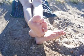 Candid Sandy Beach Feet Soles 2