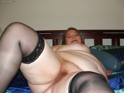 BBW fat chubby - big tits wet hairy pussy - panties down