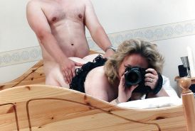 BBW Milf taking it doggy, and taking a picture