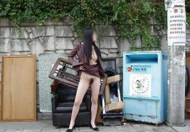 Korean office girl nude in public