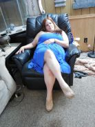 BBW Girlfriend in sexy blue dress (Spreading legs and Pussy)