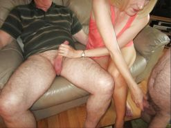 are mistaken. Titjob and blowjob very pity me