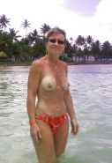 French mature on beach