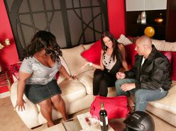 Emma Butt and  Black BBW invite man over to inspect Foreskin