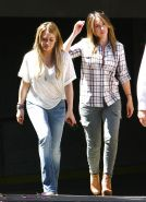 Hilary Duff see thru to bra out & about with Haylie in LA