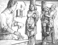 Classic BDSM Art - Getting Her Ready