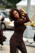 Tyra Banks on a Photoshoot in New York City