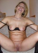 Chubby blonde housewife